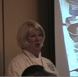 Candy Wallace, Executive Director of the American Personal Chef Assn addresses ACF chefs.