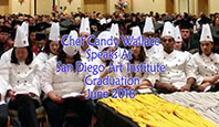Chef Wallace speaks to Art Institute San Diego grads