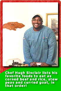 Chef Hugh Sinclair