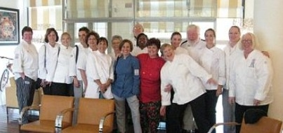 APPCA personal chefs gather for a group photo at the hotel lobby in Parma, Italy
